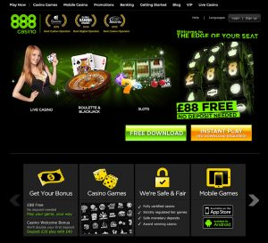 888 casino image of homepage