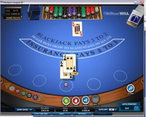 Wiilliam hill blackjack screen shot