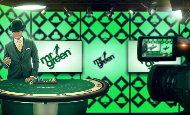 Mr Green Live dealer casino