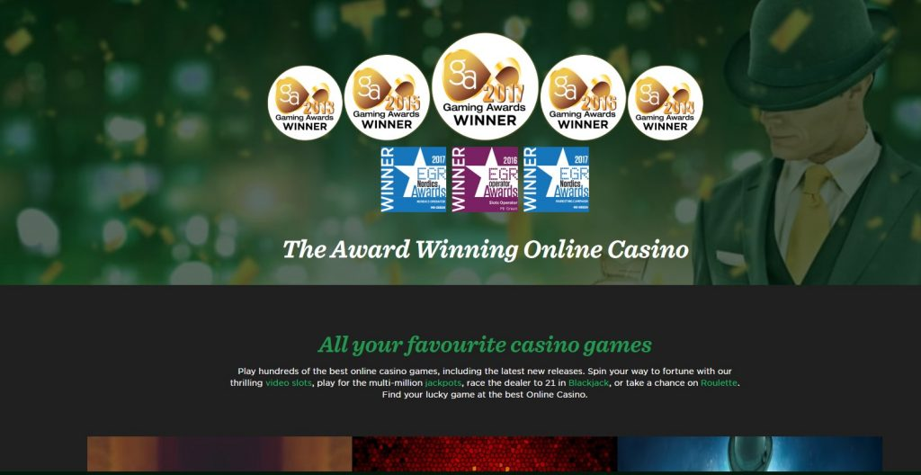 Mr green casino awards